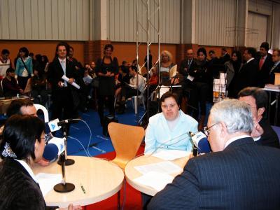 programa nº 36: asalto al Salón de Autonomía, Dependencia y Discapacidad [23-03-07; Feria de Muestras, Zaragoza]